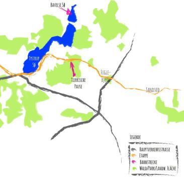 Dänemark: Von Sorø nach Bisserup (35 km)
