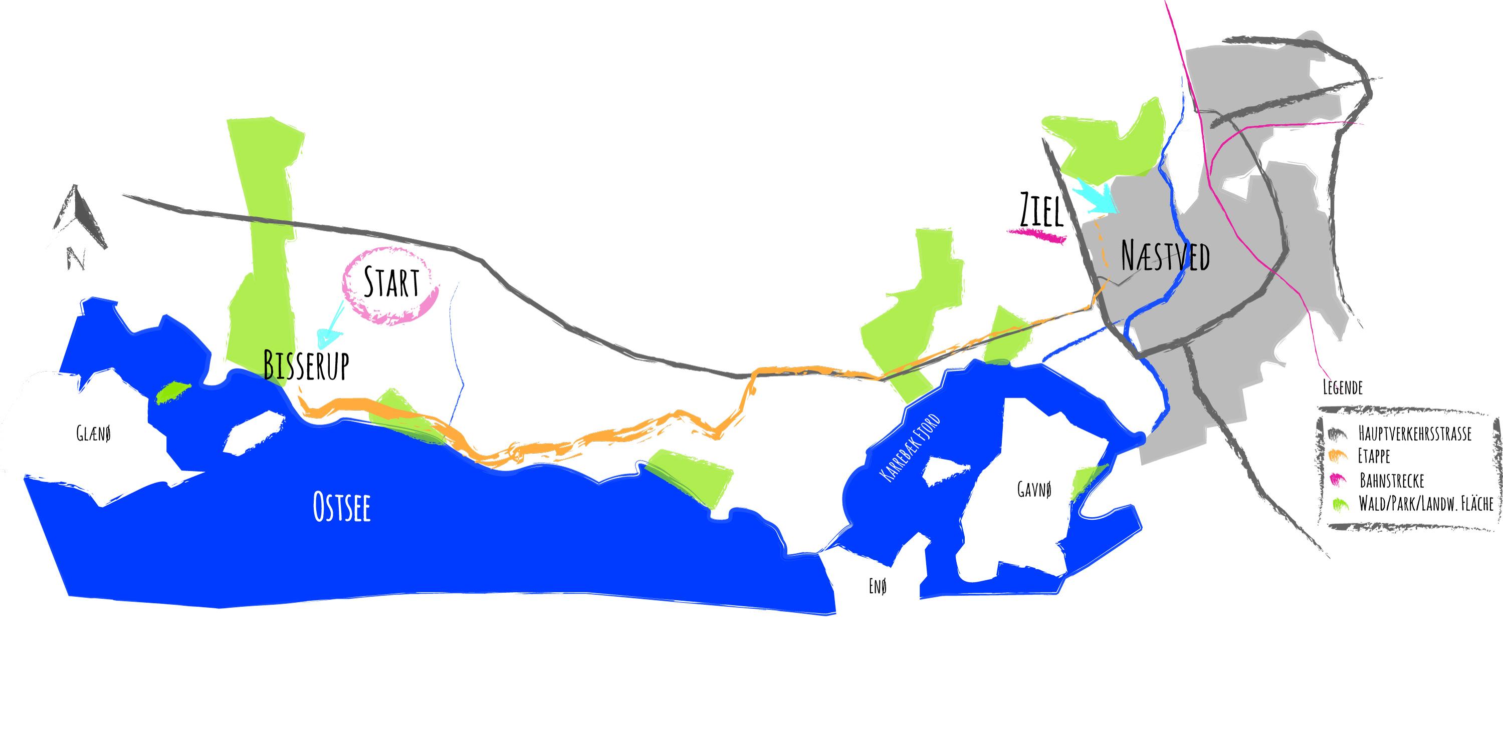 Dänemark: Von Bisserup nach Næstved (20 km) - Cyclekid