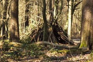 Hütte vom Brücker Waldkindergarten