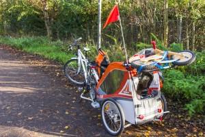 Tour mit Anhänger und Laufrad
